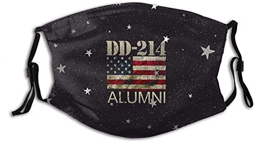 Dd-214 Alumni Military Veteran Vintage American Flag Fashion Face Mask Sports Balaclava Breathable Mask