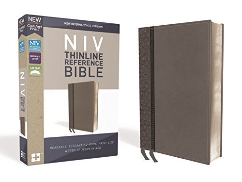 Compare Textbook Prices for NIV, Thinline Reference Bible, Leathersoft, Gray, Red Letter Edition, Comfort Print Lea Edition ISBN 0025986449698 by Zondervan