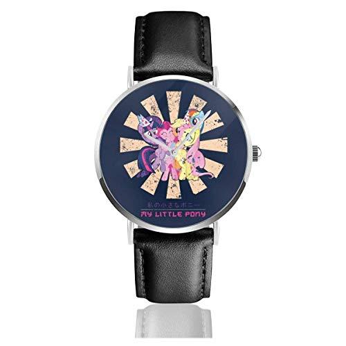 Uhren Quarz Leder Schwarzes Band Junge Kollektion Geschenk Unisex Business Casual My Little Pony Retro Japanese