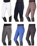 PFIFF–Pantalones de equitación de Yasmin de Silicona de Grip de Ribete Ribete Pantalones de equitación, Todo el año, Mujer, Color Antracita, tamaño 38
