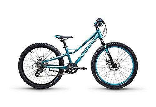 S'Cool faXe Race 24R 7-S Kinder Fahrrad (30.5cm, DarkGreen/Aqua matt)
