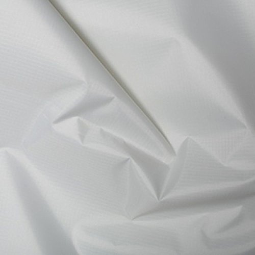 Weiß Gewebe der gefärbt Polyester Rip Stop reißfest wasserdicht 150cms breit–Meterware