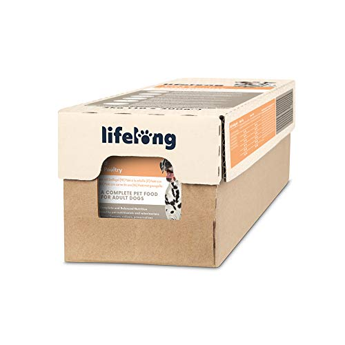 Marca Amazon - Lifelong Dog Food - Paté con carne de ave, Paquete de 10 x 300g