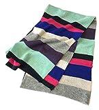 prettystern - damas niñas 100% cachemira multicolor rayas de colores largo arco iris tierno bufanda