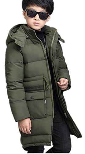 WLITTLE Junge Daunenjacke Kinder Winterjacke mit Kapuze Daunenmantel Junge Baby Verdickte Winterjacke Frühling Herbst Jacke