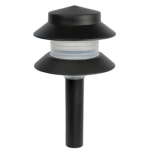 Sterno Home GL22627BK, Black Paradise Low Voltage Plastic 4-Watt Two Tier Path Light
