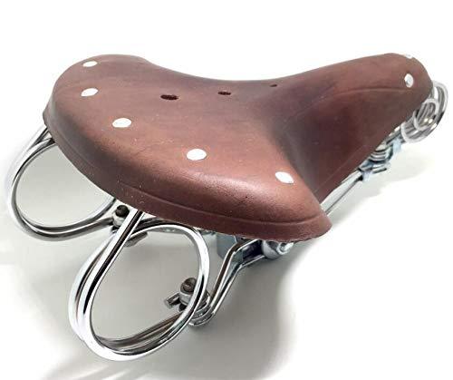 Celt Er, sella da bicicletta in vera pelle di vacchetta marrone, con molle, stile vintage