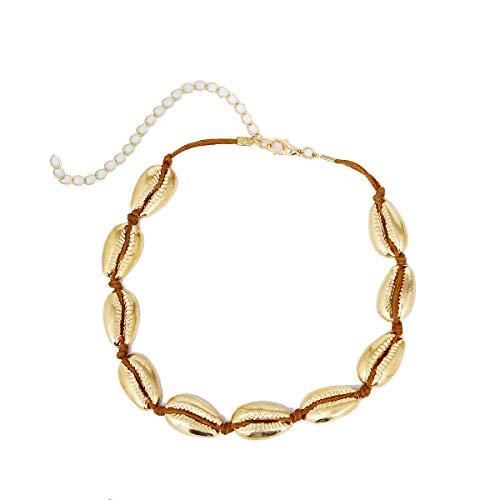 Casue Dames Bohemian-stijl halsketting verstelbare schelp halsketting Hawaii halsketting sieradenset choker halsketting voor meisjes Lady