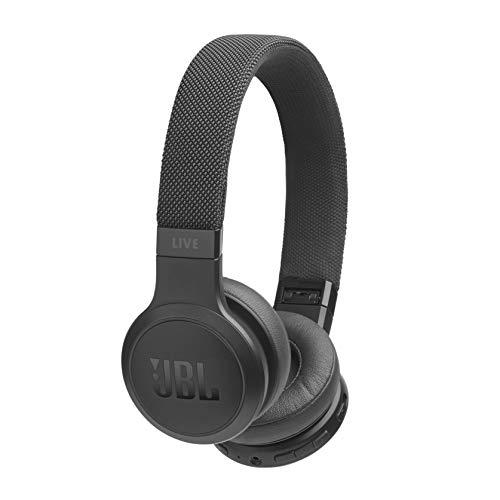 JBL LIVE 400BT - Auriculares Inalámbricos con Bluetooth, asistente de voz integrado, calidad de sonido JBL con Tecnologías TalkThru y AmbientAware, hasta 30h de música, negro