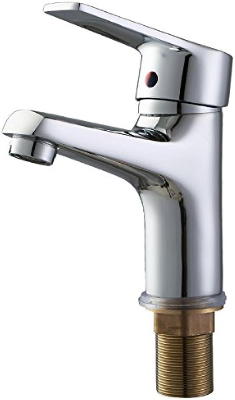 WasserhahnTap All copper single hole wash basin faucet bathroom bathroom cabinet hot cold faucet washbasin basin mixing valve