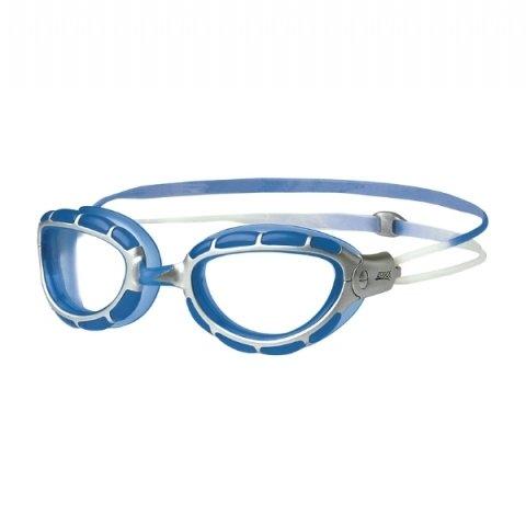 Zoggs Predator wiro-frame adultos–Plata/Azul Gafas de natación