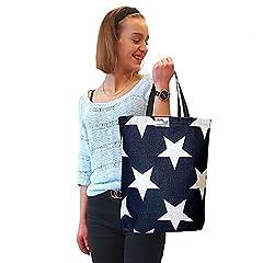 BabyBall Einkaufstasche:handgearbeitete und umweltfreundliche große  45x40cm  Baumwoll-Tragetasche Shopper