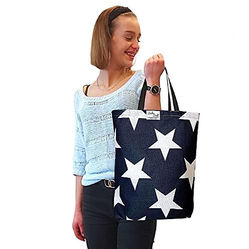 BabyBall BabyBall Einkaufstasche:handgearbeitete und umweltfreundliche große  45x40cm  Baumwoll-Tragetasche Shopper Bild