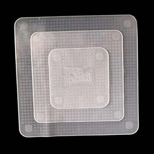 Erduo Coperchio in Silicone Coperchio con Pellicola Trasparente per Alimenti Conservante in Silicone Estensibile Coperchio per Ciotola per Alimenti-Bianca