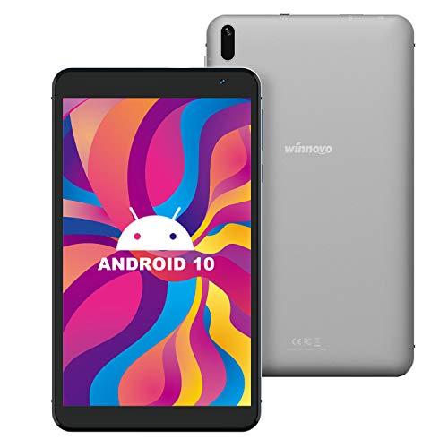 7-Inch Tablet Android 10.0 - Winnovo Quad-Core Processor 32GB Storage HD IPS Display 8MP Rear Camera WiFi Bluetooth GPS FM (Gray)