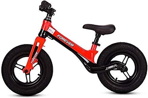 MJY Kinderfahrrad , 13 Zoll Laufrad , Lauftraining Fahrrad für Kinder und Kleinkinder 2-6 Jahre altes Kinderspielzeug, kein Pedal , Verstellbarer Sitz 7-4