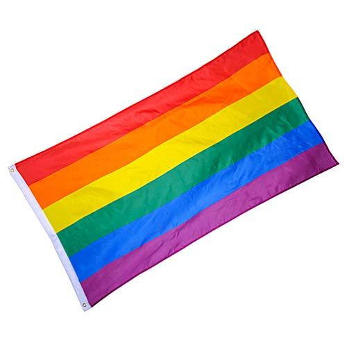 Happyyami Bandeira do orgulho da Philadelphia LGBT Bandeira do orgulho arco-íris bandeira de poliéster arco-íris para movimento interno e externo (6090 cm)