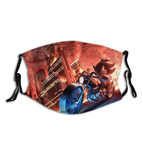 Tengyuntong Unisex Sonic-Die-Igel-Gesichts-Mundschutz, Halstuch, Bandana, Taschentuch für Staub, Wind, Sonnenschutz, blau 186