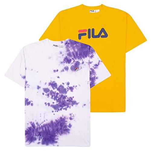 Fila T-Shirts for Men, Big and Tall Men Shirts, Tie Dye Tees, Shirt 2 Pack