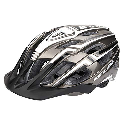 freneci Fahrradhelm mit LED Rücklicht Radhelm für Männer Frauen, Mountain & Road Fahrradhelme Sicherheitsschutz - Grau