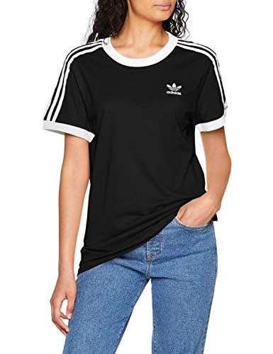 adidas Damen 3 Stripes_CY4751 T-Shirt, Schwarz (black), 36