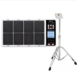 Roland SPD30 Octapad Digital Percussion Pad (White) and Roland PDS10 Stand for SPD Series Products
