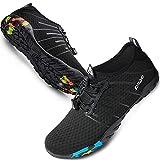 SIMARI Unisex Water Sports Shoes Barefoot Slip-on Indoor Outdoor Sports Activities Summer 208 Black