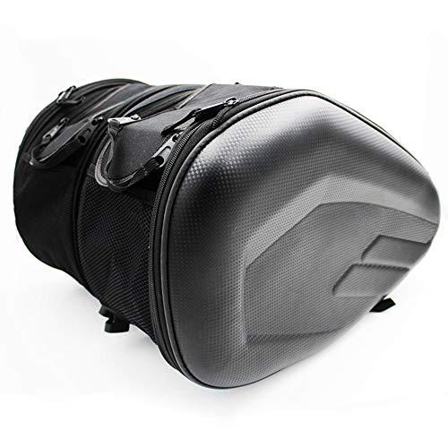 Bolsa de sillín Tanque para motocicleta, Alforjas traseras universales Maleta equipaje, Capacidad ampliable, Carcasa impermeable herramientas almacenamiento lateral para basculante