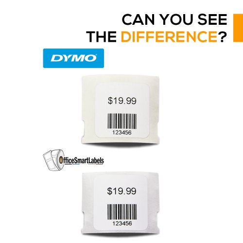"""OfficeSmartLabels - 1"""" x 1"""" Multipurpose Labels, Compatible with 30332 (1 Roll - 750 Labels Per Roll) Photo #3"""