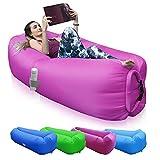 Sofá Inflable Aotono, Tumbona Inflable Impermeable, Bolsa de Aire para sofá de Aire, Tumbona de Aire portátil, Bolsa de Aire para Bolsa sofá de Aire, Ideal para Acampar, Playa,al Aire Libre(púrpura)