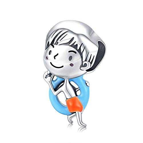 Charm a forma di bambino in argento Sterling 925 per braccialetti Pandora (ragazzo A)