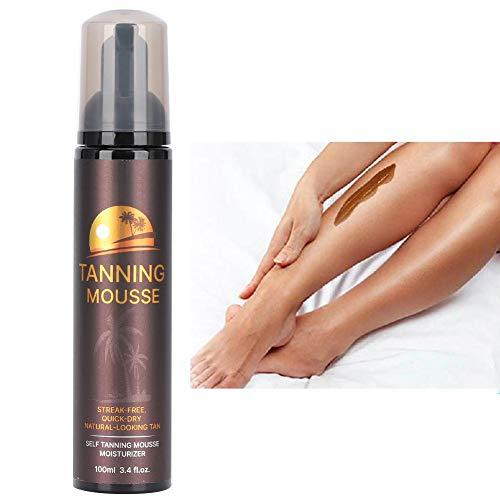 Self-tanning spray, 100ml tanning spray, Long-lasting sunless tanning mousse Natural tanning spray Tanning spray Legs Self-tanning body Black bronze tanning spray face body