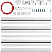 ケーブルカバー 配線カバー、電気製品のケーブル整頓用、人気のケーブル管理ソリューション 、テープ付きモール 白 40cm×8本パック (組み合わせ1)