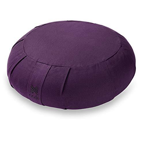 Node Fitness Organic Cotton 15' Round Meditation Cushion - Purple