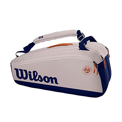 Wilson RG Super Tour 12 PK, 9 Racchette, Bianco/Blu