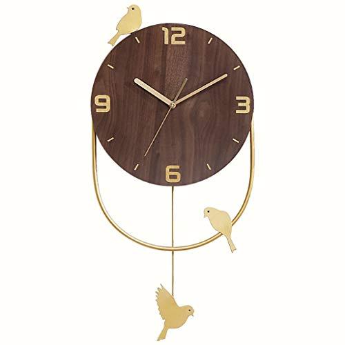 wall clock-Q Wohnaccessoires-QFF Massivholz-Wanduhr, Vogel-förmige Uhr Mode Wanduhr Tagungsraum Shop Wanduhr, 30.5 * 64CM Familiennutzung (Size : 30.5 * 64CM)