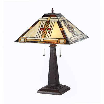 """Chloe Lighting CH33291MS16-TL2 """"GODE"""" Tiffany-Style Mission 2 Light Table Lamp 16-Inch Shade"""