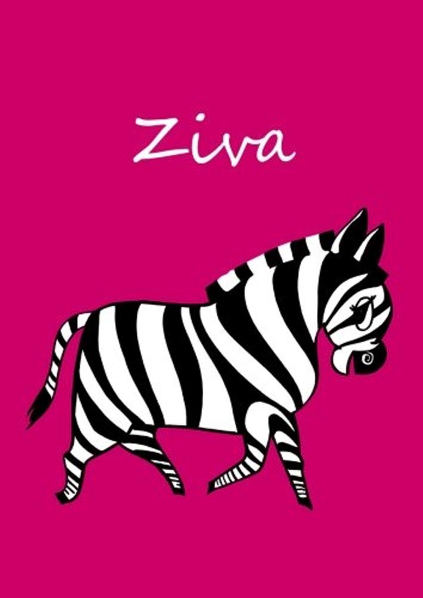 概要けん引罹患率personalisiertes Malbuch / Notizbuch / Tagebuch - Ziva: Zebra - A4 - blanko