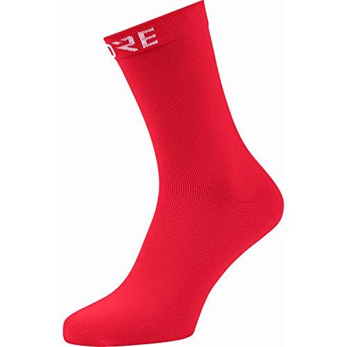 GORE WEAR Calcetines medianos de ciclismo Cancellara unisex, 41-43, Rojo
