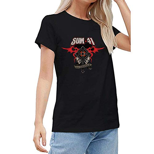 FENGBOXU Women's/Damen Sum 41 13 Voices Black Gift T-Shirt Small