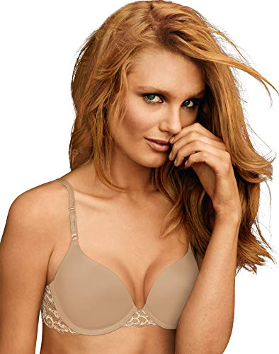 Maidenform Self Expressions Women's T-Shirt Bra 5701 (38D, Beige)