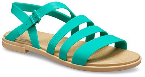Crocs Tulum - Sandalias para mujer, color verde, color Verde, talla 34/35 EU