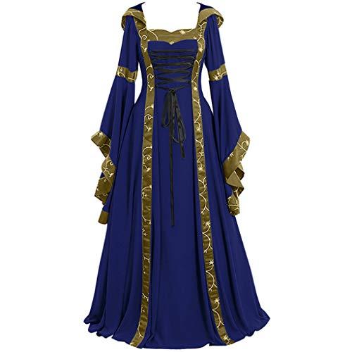 HuaCat mittelalterlichen kostüm viktorianischen Kleid Langarm Abendkleid Maskerade Cosplay Partykleid mittelalterlichen königin kostüm Elegante Frau Kleid