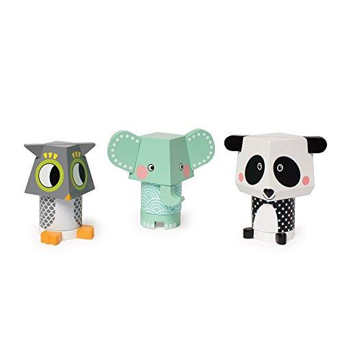 Manhattan Toy empilage jouet, chouette/éléphant/Panda