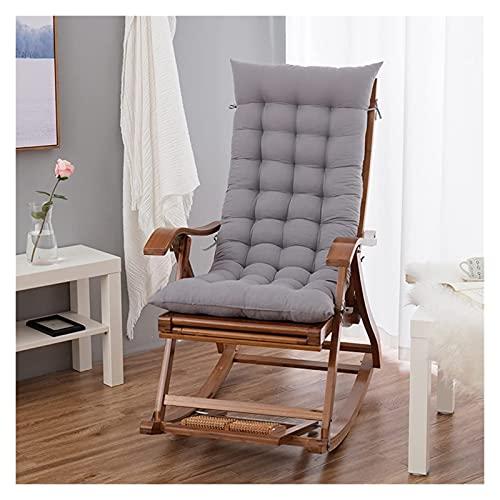 Cojines de asiento Cojines de silla mecedora de silla de mecansión Almohadillas de almohadillas, Cojín de tumbonas de respaldo alto, relajante Sofá Cojines, Cojín de patio al aire libre interior (sin