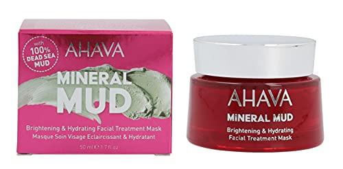 AHAVA Dead Sea Mineral Mud Brightening & Hydrating Facial Treatment Mask, 1.7 fl oz/50ml