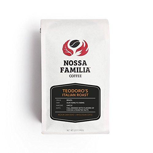Italian Roast Medium-Dark Roast Coffee Beans Ground, Teodoro's 12oz