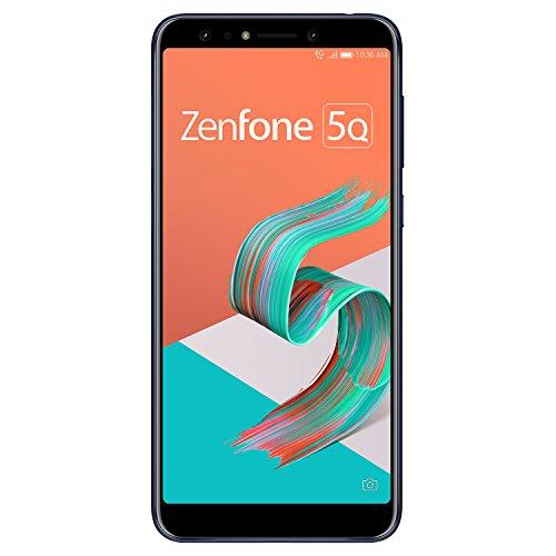 ASUS ZenFone 5Q 【日本正規代理店品】 6.0インチ / SIMフリースマートフォン / ミッドナイトブラック (4GB/64GB/3,300mAh) ZC600KL-BK64S4/A