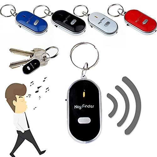 PANGF Kabellos Schlüsselfinder ,Alter Mann Sachenfinder ,Klangsteuerung Anti-Lost-Tracker mit LED-Licht-Taschenlampe,zum Auffinden Key Finder ,Wallet-Tracker. (A-Schwarz)