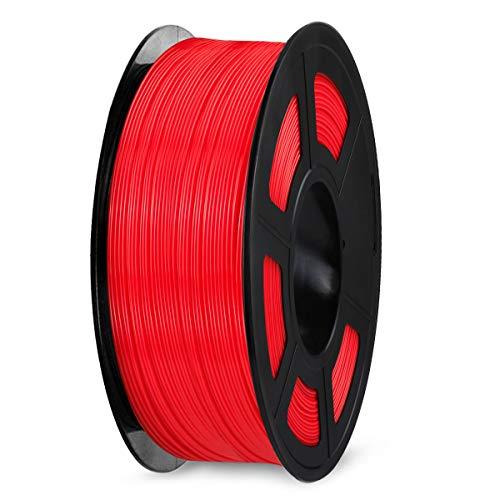 Filamento per stampante 3D SPLA 1,75 mm, filamento SPLA SUNLU, precisione dimensionale +/- 0,02 mm, bobina da 1 kg, SPLA 1,75 Rosso